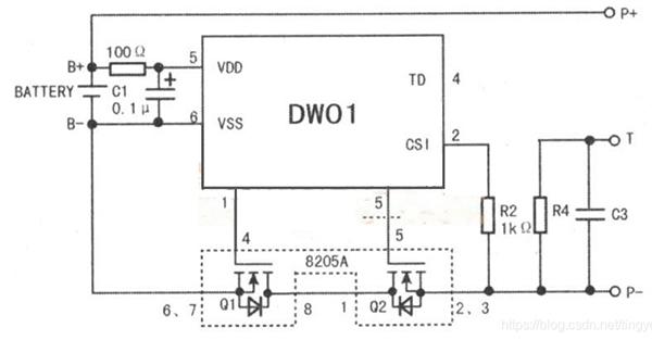 电池电路板原理图