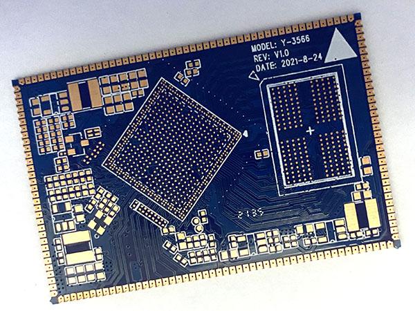 六层一阶HDI半孔电路板